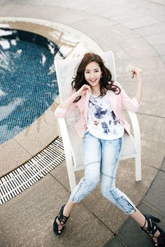 Park Min Young for Compagna Summer 2011 Korean Actresses, Korean Actors, Actors & Actresses, Park Min Young, People Fall In Love, Park Shin Hye, Korean Star, Beautiful Asian Girls, Asian Fashion