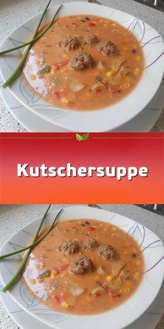 Kutschersuppe - New Site Easy Smoothie Recipes, Easy Smoothies, Good Healthy Recipes, Soup Recipes, Healthy Snacks, Snack Recipes, Breakfast Healthy, Dinner Healthy, Easy Snacks