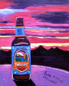 Beer Painting of Twilight Summer Ale by Deschutes Brewing Company. Year of Beer Paintings - Day 165.