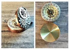 Steampunk Compass with Gears by OneStopSteamShoppe #Compass #Steampunk #Gears #SteampunkCompass #Gadget #SteampunkGadget #SteampunkJewelry #SteampunkJewellery #GearsandCogs #Accessories #Navigation #NeoVictorian #Handmade #etsy