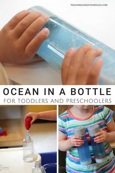 This ocean discovery bottle is so easy to make, and a great companion to your beach and ocean theme. Invite your children to make their own bottles with sand, water, shells, and sea creatures!