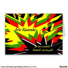 rasta christmas greeting cards