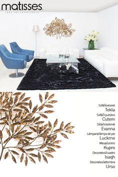 Experiencia Matisses: crea un living contemporáneo con tonos cálidos; incluye acentos de color en decorativos para romper con la monocromía.