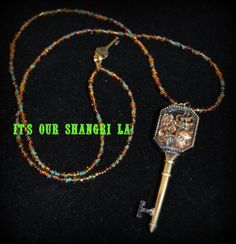 Pendant Necklace   Key to My Heart Keepsake by ItsOurShangriLa