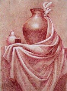 драпировка в натюрморте фото - Поиск в Google Still Life Sketch, Still Life Drawing, Painting Still Life, Still Life Art, Pencil Art Drawings, Realistic Drawings, Drawing Sketches, Drapery Drawing, Fabric Drawing