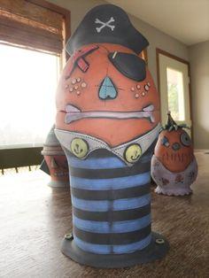Pottery Jar  Pirate ....ahaar!