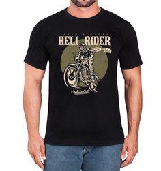 Camiseta Masculina Preta – Moto Hell Rider - Machine Cult - Kustom Shop   A loja das camisetas de carro e moto