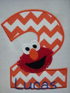 Personalized Elmo Birthday Onesie or Tshirt  Boy by babymodern, $24.95
