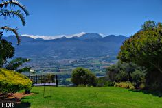 The view from the Afrikaans language monument, Paarl, South Africa.