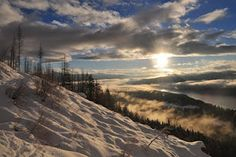 Sunrise during winter.