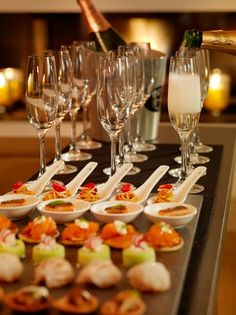 Beautiful Canapes & The Finest Champagne Aboard The Mega Yacht -ShazB