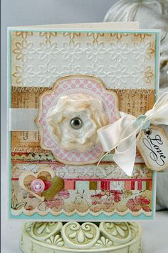 Splitcoaststampers - Tissue Flower tutorial by Mona Pendleton  @Spellbinders