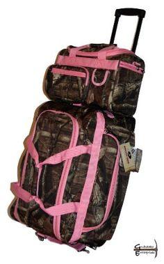Mossy Oak Pink Camouflage Rolling Duffle 22