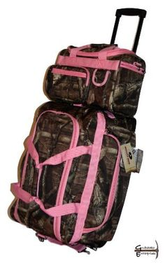 "Mossy Oak Pink Camouflage Rolling Duffle 22"" and Piggyback Duffle 13"" by Explorer Bags, http://www.amazon.com/dp/B00CDQYNSY/ref=cm_sw_r_pi_dp_gIOlsb07XFGQG"