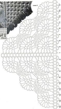 Best 12 Shawl Crochet Patterns Part 15 – Beautiful Crochet Patterns and Knitting Patterns – SkillOfKing. Crochet Shawl Free, Crochet Shawls And Wraps, Crochet Diagram, Crochet Chart, Crochet Scarves, Crochet Motif, Crochet Doilies, Crochet Clothes, Crochet Lace