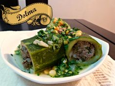 Here's one to get your juices flowing - Courgette dolma with chickpeas and parsley. #algerian #food #inspiration
