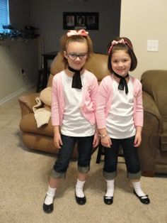 Kids Outfit Picture dress up day how cute are they in 2019 sock hop Kids Outfit. Here is Kids Outfit Picture for you. Kids Outfit pin j. Kids 50s Costume, Hallowen Costume, Costume Ideas, 1950s Costumes, 70s Costume, Hippie Costume, Grease Party Costume, Grease Costumes For Kids, Poodle Skirt Costume