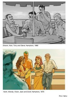 Period Marvel snapshots by Phil Noto