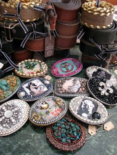 "Some of my buckles and ""thangs"" are featured at an AWESOME shop in Alpharetta, ga., Cool Bees."