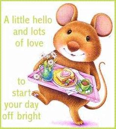 A little hello and lots of love to start your day off bright.....have a great…