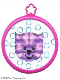 Bucilla ® My 1st Stitch™ - Counted Cross Stitch Kits - Mini - Cat. Ideal for beginners. Included are easy to learn instructions with how-to steps showing you how its done. Beginner stitchers can create a quick and easy project. #crafts #knitting #plaid crafts