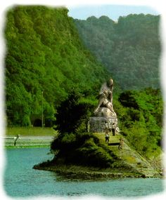 The Lorelei Rock ~ Rhineland-Palatinate ~ Germany ~ It is on the banks of the Rhine River across from the town of St. Goar.