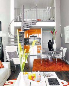 diseño de apartamento tipo loft pequeño