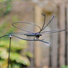 Papillon de jardin sur balancier - Objet du Vent Mobile
