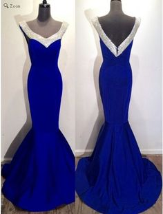 royal blue prom dress, long prom dress, mermaid prom dress, simple prom dress, formal evening dress, BD526