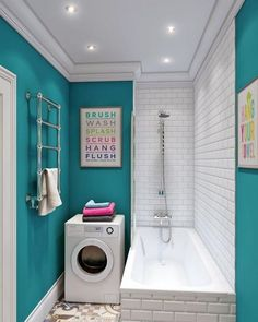 19 Most Beautiful Vintage Laundry Room Decor Ideas (eye-catching looks) Modern Laundry Rooms, Modern Bathroom, Small Bathroom, Bathroom Storage, Bathroom Laundry, Bathroom Signs, White Bathroom, Laundry Room Wall Decor, Laundry Room Design