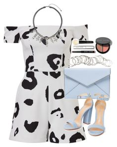 """""""Outfit for prom with a playsuit"""" by ferned on Polyvore featuring Rebecca Minkoff, H&M, Bobbi Brown Cosmetics and Topshop"""