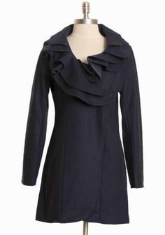 Emerson Embassy Ruffle Coat By Pink Martini $167.99