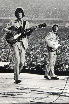On Aug. 15, 1965, the Beatles performed their biggest concert at Shea Stadium to a crowd of 55,000 screaming fans. It has been also the first rock concert ever.