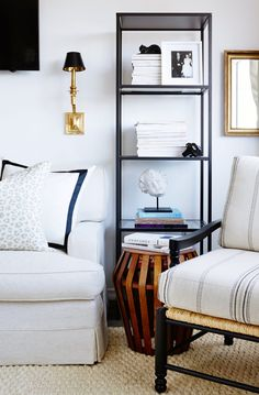 How to Craft a Black and White Space That's Anything But Boring - Mix in metal accents
