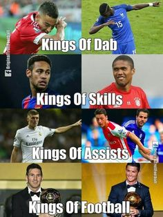 """""""Messi and Ronaldo """" The dab belongs in soccer xD Funny Football Memes, Soccer Jokes, Soccer Tips, Sports Memes, Funny Memes, Cristiano Ronaldo, Messi Vs Ronaldo, Messi Gif, Lionel Messi"""
