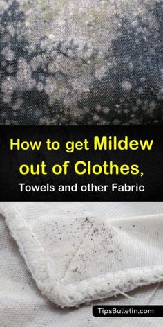 Remove mold stains from your laundry! Our guide shows you how to remove signs of mold from your fabrics using nothing more than hydrogen peroxide baking soda vinegar and your washing machines! Get mildew out of clothes safely with our help! Deep Cleaning Tips, House Cleaning Tips, Natural Cleaning Products, Cleaning Solutions, Spring Cleaning, Cleaning Hacks, Cleaning Checklist, Mold On Clothes, Remove Mold From Clothes