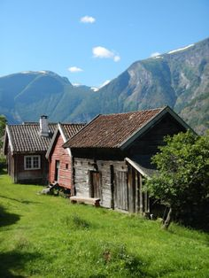 """FLÅM—Near Flåm, this """"cluster farm"""" called Otternes Bygdetun, is a nice diversion. It contains 27 historic buildings that date back to the 1600's."""