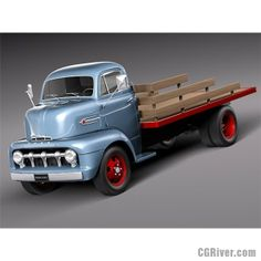 Ford COE Truck 1952 - 3D Model