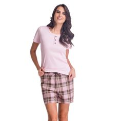 Pijama Lupo Short Xadrez - 24005-001