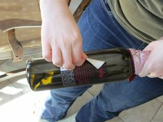 Many home winemakers soak and scrub wine labels off to reuse the bottles. But here's a way you can save and reuse the beautiful labels as well.
