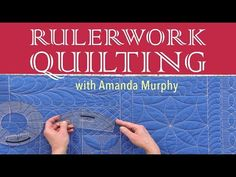 Rulerwork Quilting with Amanda Murphy - great video showing how to use round, wave and clamshell rulers. Quilting Stencils, Quilting Templates, Quilting Rulers, Longarm Quilting, Free Motion Quilting, Quilting Tips, Quilting Tutorials, Hand Quilting, Quilting Projects