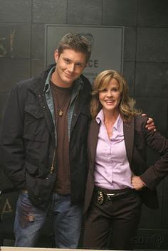 Jensen with Linda Blair in the Usual Suspects. - Pea soup anyone? #supernatural