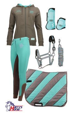 Harry's Horse Brown-Turquoise Summer 2016 .Harry's Horse Brown-Turquoise Summer 2016 - Art Of Equitation Equestrian Boots, Equestrian Outfits, Equestrian Style, Horse Gear, Horse Tack, Looks Country, Horse Riding Clothes, Horse Riding Gear, Horse Supplies