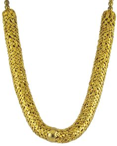 JULIA: This golden-tone 599 SEK necklace amalgamates an exotic blend of modernity and trendiness. Available in silver; shop now on our website.