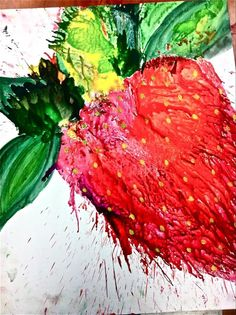 turn melted crayons into something....my latest art project:)