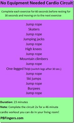 No Equipment Needed Cardio Circuit fitness get-back-in-shape workout great-abs ab-challenge sexy-abs Fitness Motivation, Fitness Diet, Health Fitness, Fitness Fun, Fitness Quotes, Cardio At Home, At Home Workouts, Cardio Workouts, Workout Exercises