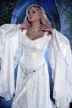 Lady Gwen Medieval Lace Up Gown with Train New! - Wedding Dress!!!