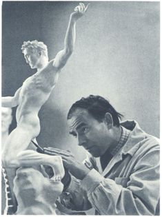 Arno Breker (July 1900 – February was a German sculptor, best known for his public works in Nazi Germany, which were endorsed by the authorities as the antithesis of degenerate art. Arno, Ideal Male Body, Aryan Race, Creepy Smile, Degenerate Art, Berlin Photos, Giorgio Vasari, German People, Socialist Realism