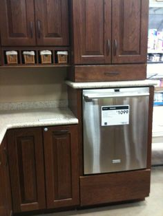 Raised dishwasher - why strain your back if you don't have to?