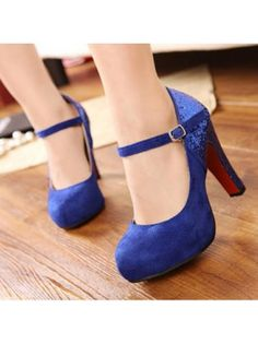Classic Round Toe Sky High Platform Stiletto Pumps Comfy Thick ...